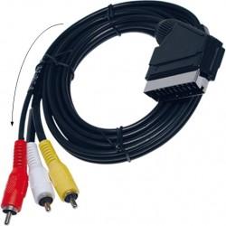 MAV-CABLE / Cable SCART a 3 RCA AV (1,5m)