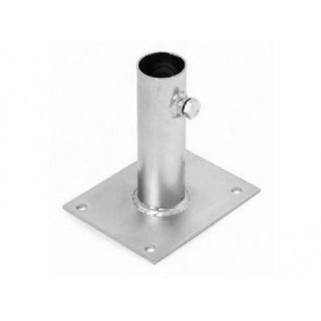 BM40 / Base fijación a suelo para mástil hasta 40mm
