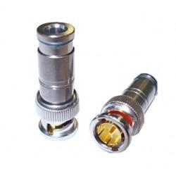 BNCC5.1C / Conector BNC macho de compresión para cables entre 5,1 ~ 8mm