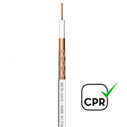 N-35CU/200 Cable Coaxial 5,00mm Cu/Cu blanco (200m)