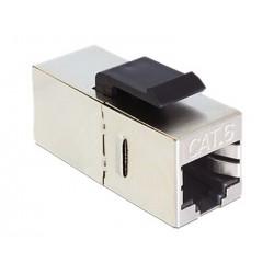 ADHRJ45-F6 / Conector modular doble hembra RJ45 FTP Cat6