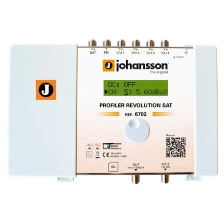 PROFILER REVOLUTION SAT (6702) / Cabecera Procesadora 6 entradas 70dB (UHF) - 40dB (SAT) - 32 filtros