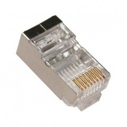CON-922 / Conector RJ45 macho blindado para cable FTP Cat. 6
