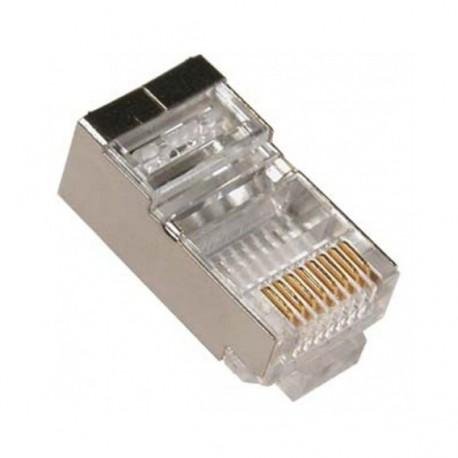 RJ45-F6 / Conector RJ45 macho blindado para cable FTP Cat. 6