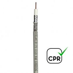 CC128B/100 - Cable Coaxial 6,9mm CCS/Al blanco (100m)