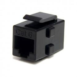 FLC-6U6U-K / Conector modular doble hembra RJ45 UTP Cat6 Keynet