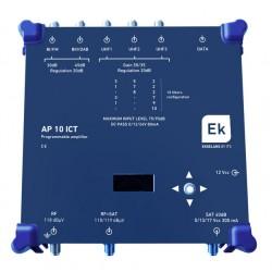 AP10-ICT / Cabecera Programable 6 entradas 51dB (UHF) / 40dB (SAT)