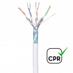 CAS/LFFTP-C7 / Cable S/FTP Categoría 7 LSZH blanco Cu (500m)