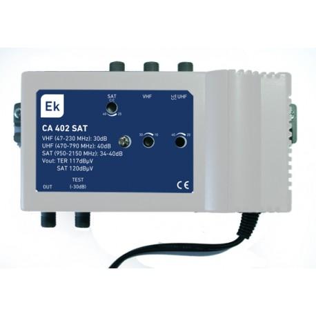 CA402-SAT / Amplificador Multibanda 3 entradas 40dB (UHF) - 40dB (SAT)