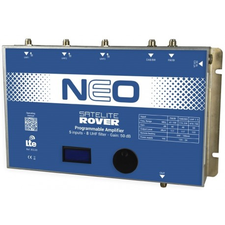 NEO / Cabecera Programable 5 entradas 50dB (UHF)