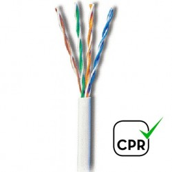 UTP-5-CCA-LSZH / Cable UTP Categoría 5e LSZH blanco CCA (305m)