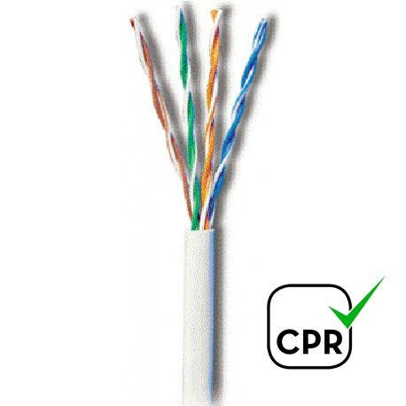 CUTP-5L / Cable UTP Categoría 5e LSZH blanco CCA (305m)