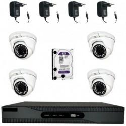 KIT-CCTV4 / Kit CCTV 1080p 4 cámaras Domo HD 1080p
