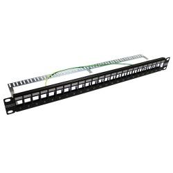 """PM24SLIM / Panel de conexión 19"""" 24 puertos Multimedia con guía de cables"""