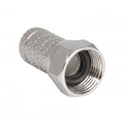CFS-7 / Conector roscado tipo F cables 6,8mm con junta tórica