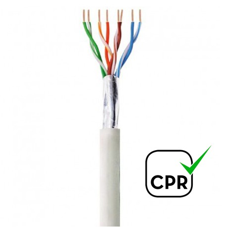 CLF-5CUE / Cable LAN CAT5e F/UTP CU LSZH UV para exterior/interior