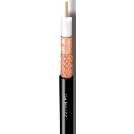 22/99FC/500 Cable Coaxial 12,7mm Cu/Cu PE negro (500m)