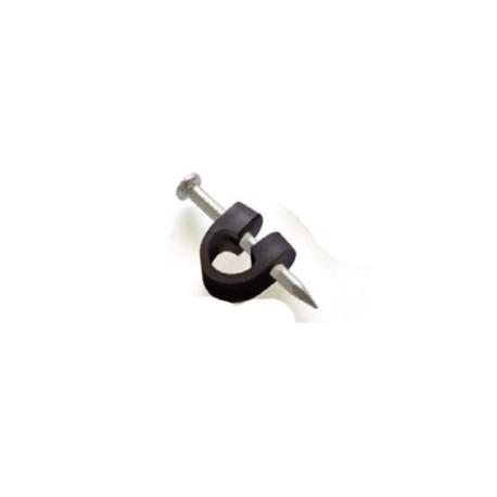 GRAPA-CN / Aislador interior tipo grapa cerrado negra (100ud)