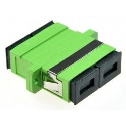 ASASA-HD / Adaptador fibra óptica SC/APC monomodo Duplex