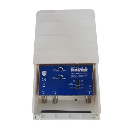 RVF-203ULTE1-2 / Amplificador de mástil 2xUHF 40dB LTE1-LTE2 conmutable