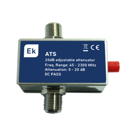 ATS / Atenuador variable 45-2300MHz en F 20dB