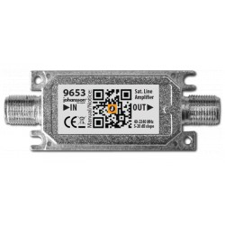 9653 / Amplificador de línea SAT - TER IN-OUT 20dB (SAT)